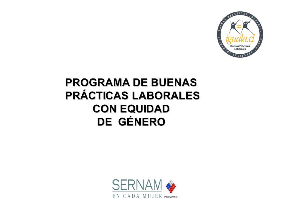 PROGRAMA DE BUENAS PRÁCTICAS LABORALES PRÁCTICAS LABORALES CON EQUIDAD DE GÉNERO