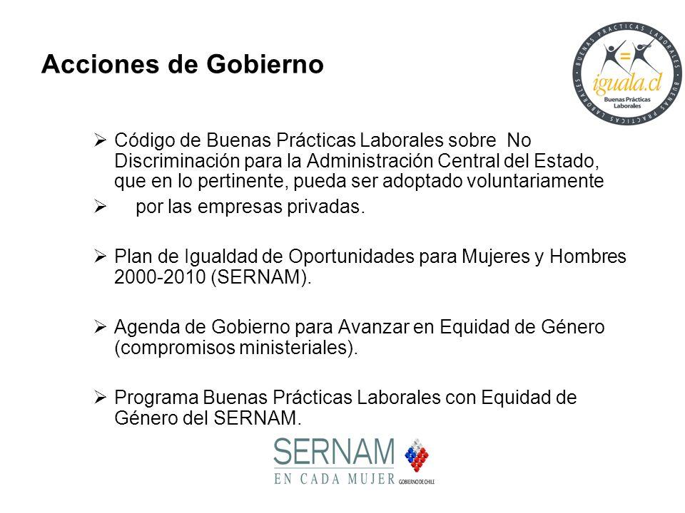 Código de Buenas Prácticas Laborales sobre No Discriminación para la Administración Central del Estado, que en lo pertinente, pueda ser adoptado volun