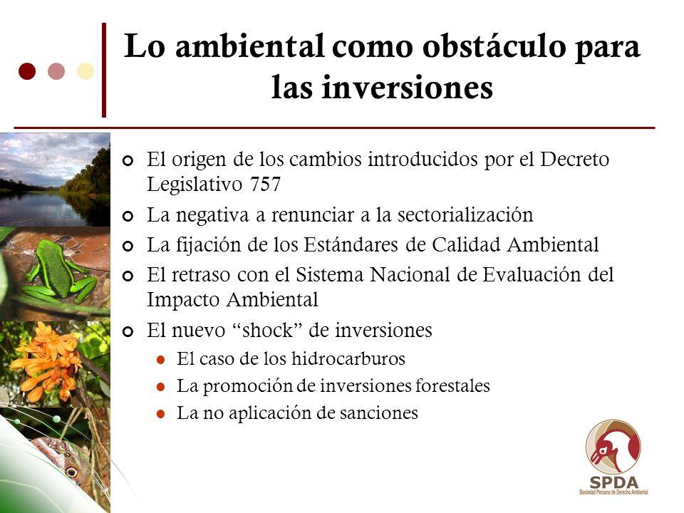 La debilidad y pérdida de credibilidad en los instrumentos de gestión ambiental La Evaluación de Impacto Ambiental.