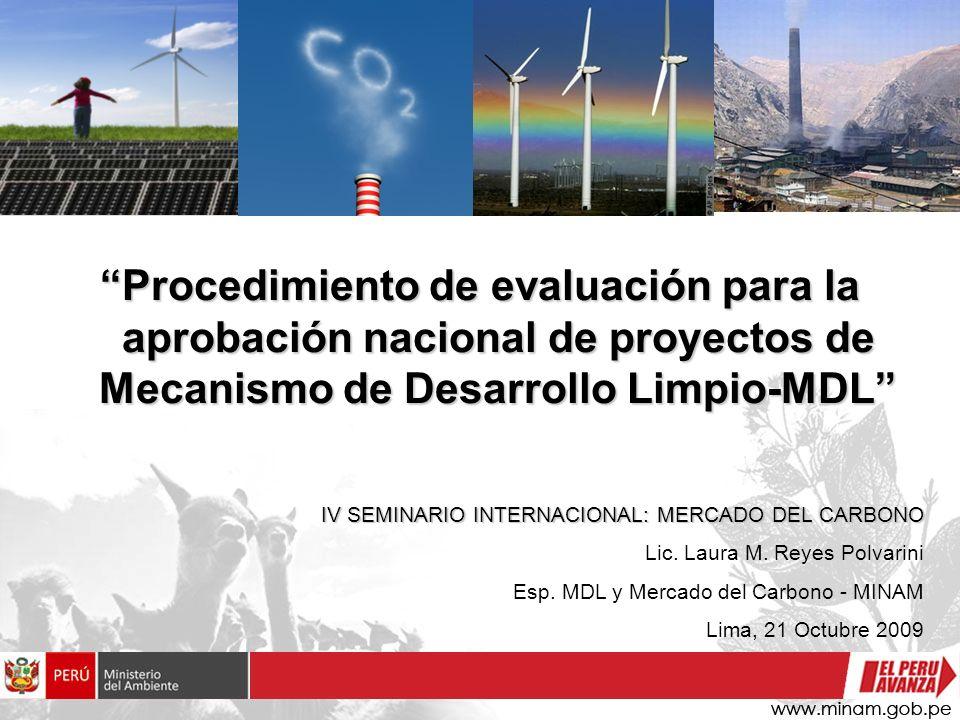 Procedimiento de evaluación para la aprobación nacional de proyectos de Mecanismo de Desarrollo Limpio-MDL IV SEMINARIO INTERNACIONAL: MERCADO DEL CAR