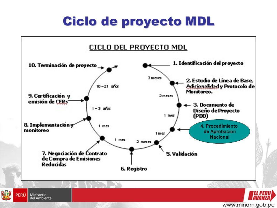 Ciclo de proyecto MDL 4. Procedimiento de Aprobación Nacional