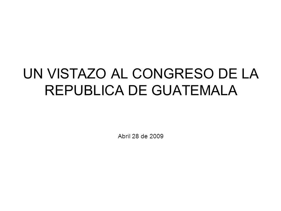 UN VISTAZO AL CONGRESO DE LA REPUBLICA DE GUATEMALA Abril 28 de 2009