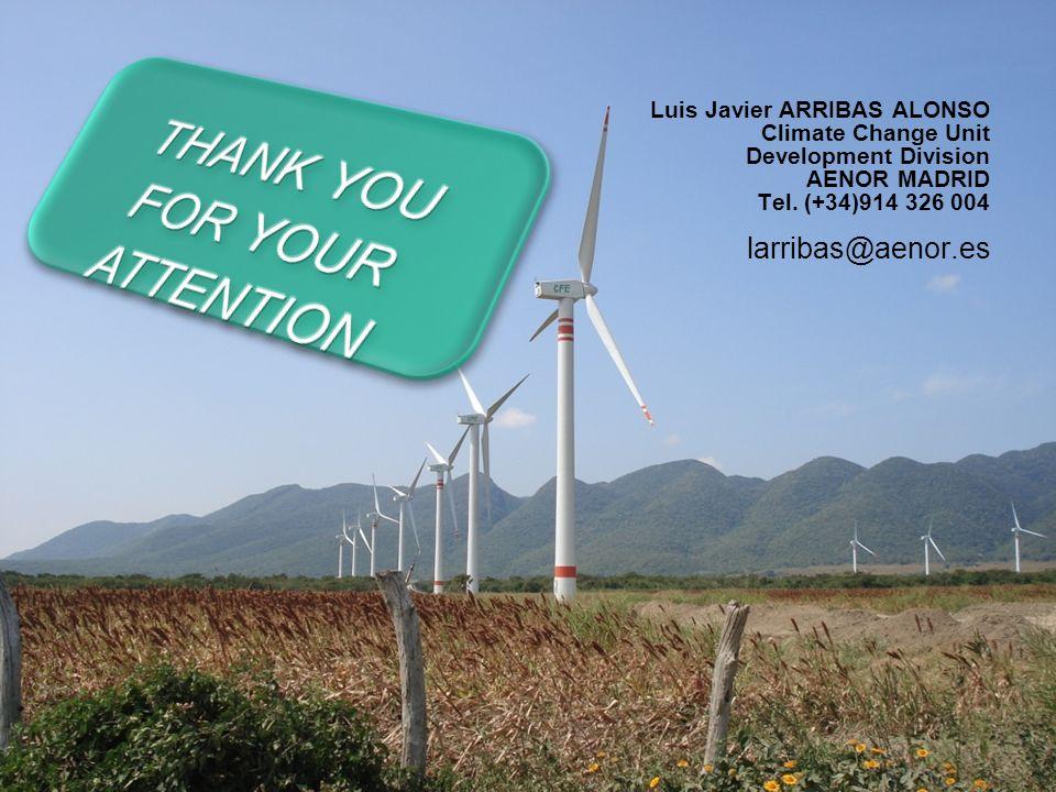 MECANISMOS DE FLEXIBILIDAD 29/29 Luis Javier ARRIBAS ALONSO Climate Change Unit Development Division AENOR MADRID Tel. (+34)914 326 004 larribas@aenor