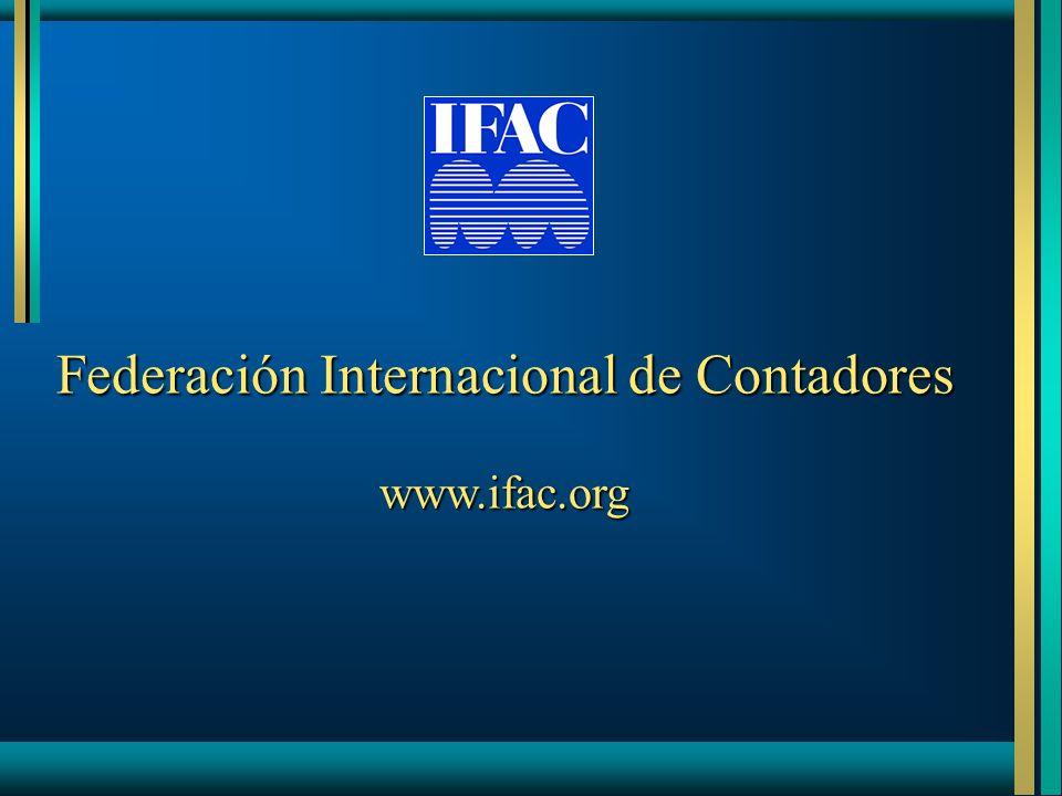 Federación Internacional de Contadores www.ifac.org