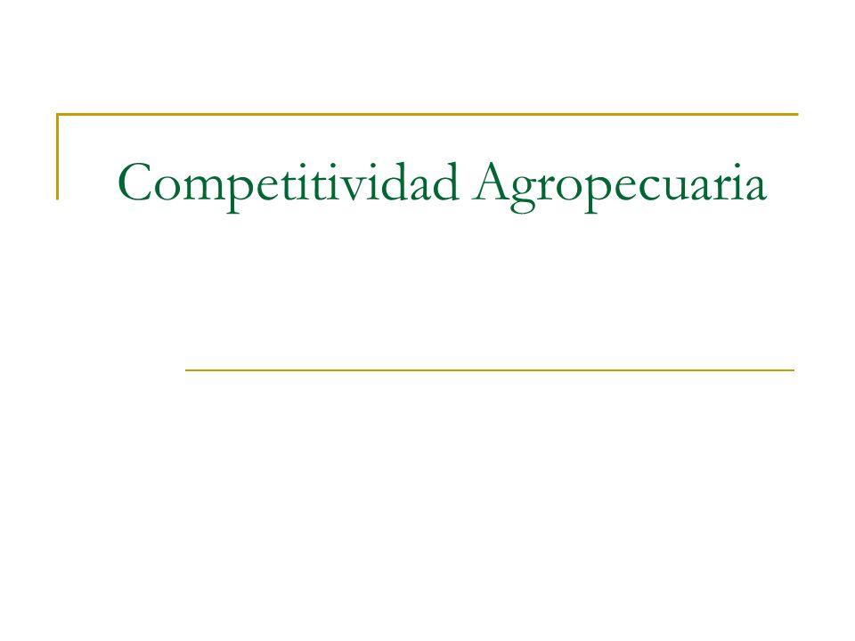 Competitividad Agropecuaria