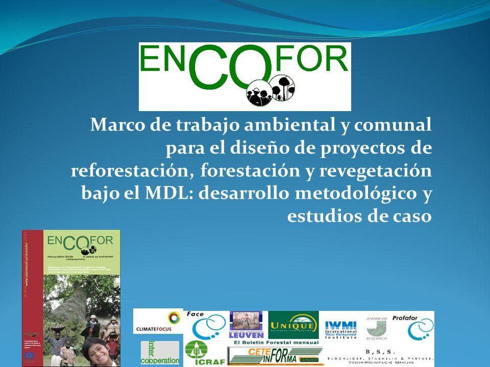 Marco de trabajo ambiental y comunal para el diseño de proyectos de reforestación, forestación y revegetación bajo el MDL: desarrollo metodológico y e