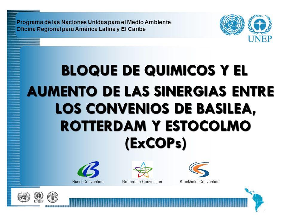 2 Programa de las Naciones Unidas para el Medio Ambiente Oficina Regional para América Latina y El Caribe BLOQUE DE QUIMICOS Y EL BLOQUE DE QUIMICOS Y
