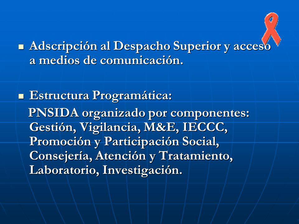 Adscripción al Despacho Superior y acceso a medios de comunicación. Adscripción al Despacho Superior y acceso a medios de comunicación. Estructura Pro