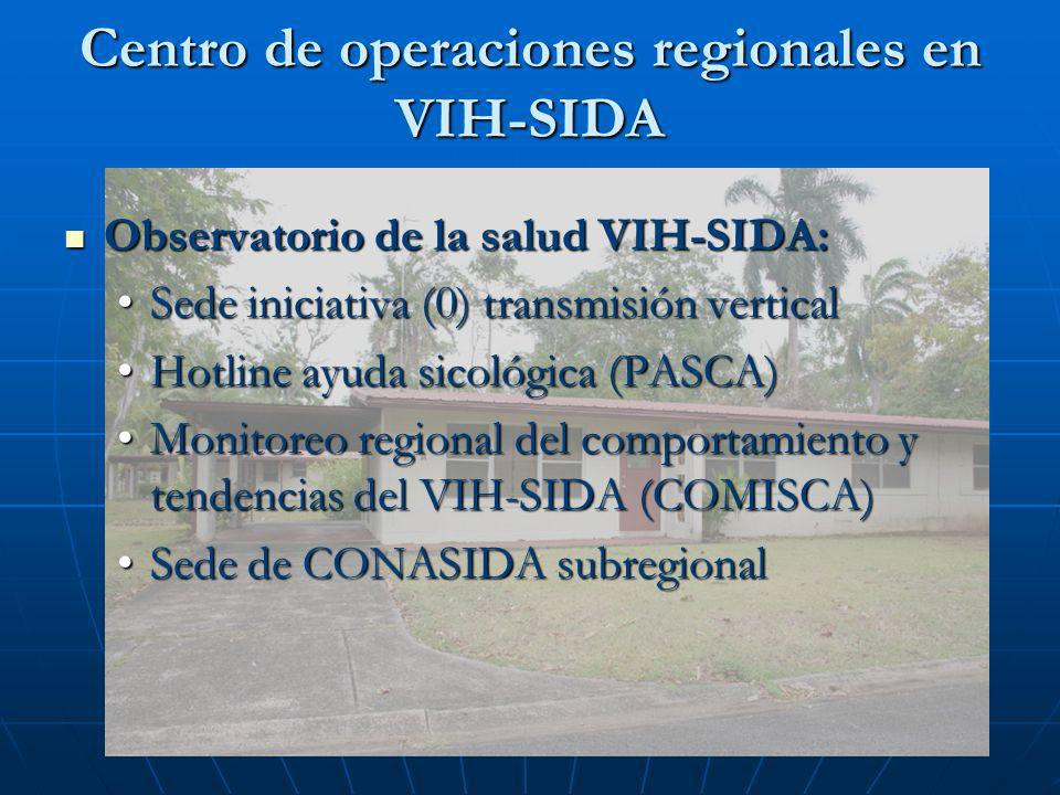 Centro de operaciones regionales en VIH-SIDA Observatorio de la salud VIH-SIDA: Observatorio de la salud VIH-SIDA: Sede iniciativa (0) transmisión ver