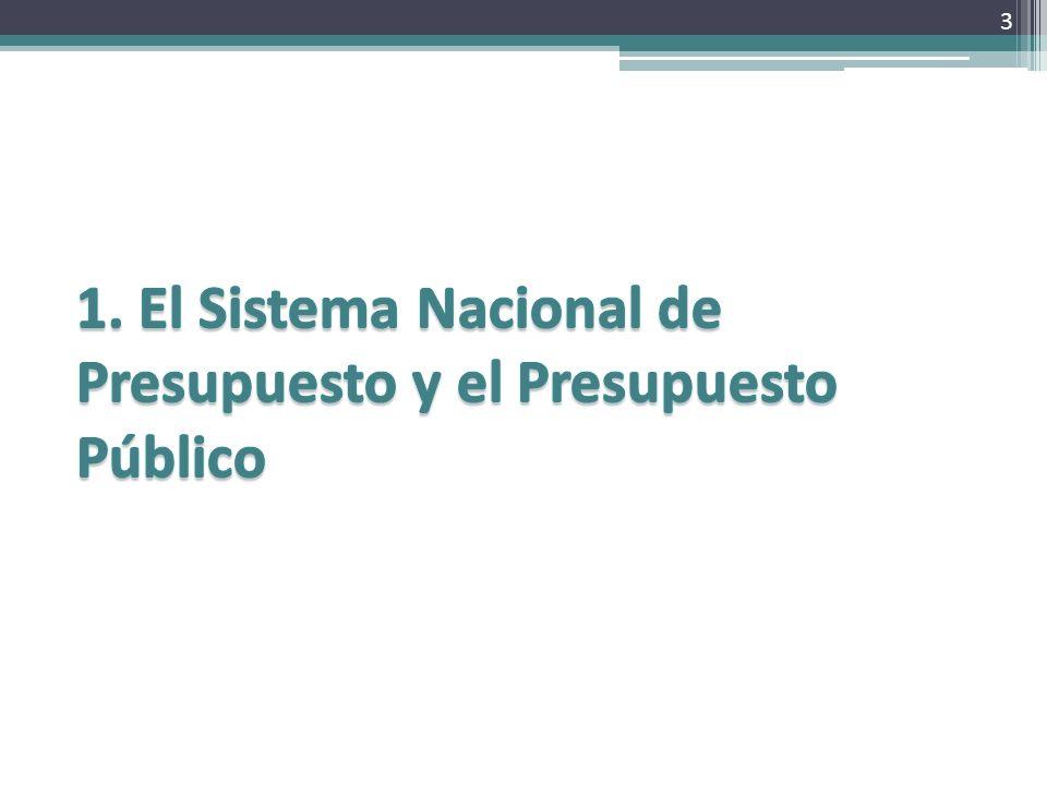 El Sistema Nacional de Presupuesto, es uno de los sistemas administrativos integrantes de la Administración Financiera del Sector Público.