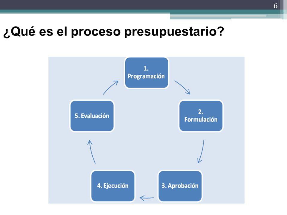 6 ¿Qué es el proceso presupuestario?