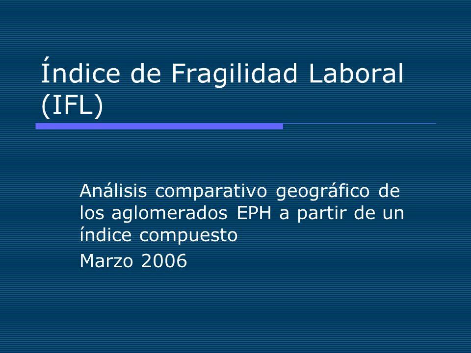 Índice de Fragilidad Laboral (IFL) Análisis comparativo geográfico de los aglomerados EPH a partir de un índice compuesto Marzo 2006