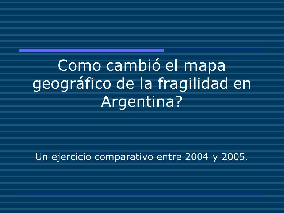 Como cambió el mapa geográfico de la fragilidad en Argentina.