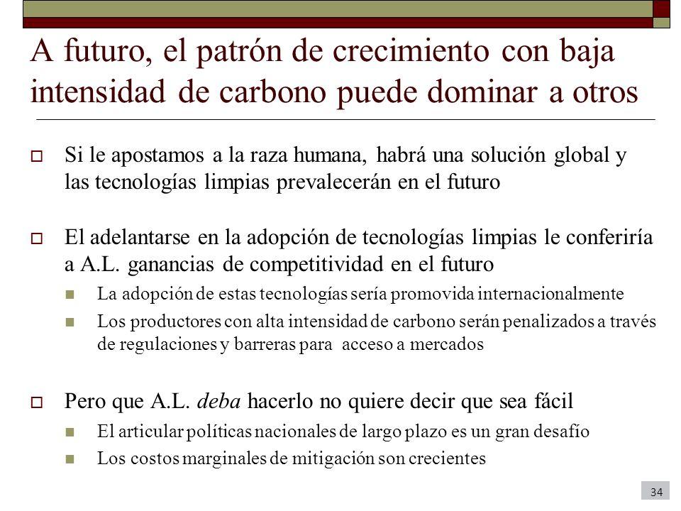 A futuro, el patrón de crecimiento con baja intensidad de carbono puede dominar a otros Si le apostamos a la raza humana, habrá una solución global y