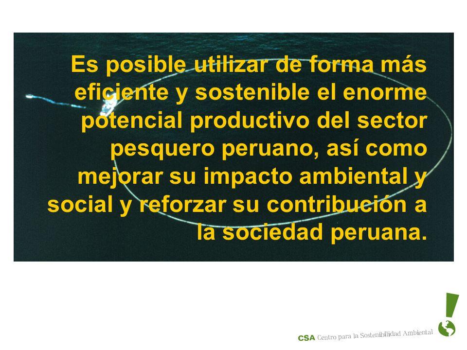Es posible utilizar de forma más eficiente y sostenible el enorme potencial productivo del sector pesquero peruano, así como mejorar su impacto ambien