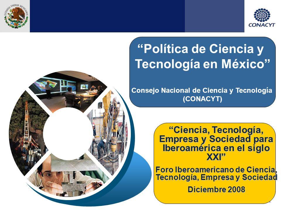 12 Estrategias del PECiTI 2008-2012 2.2Incrementar la infraestructura científica, tecnológica y de innovación, tanto física como humana, para coadyuvar al desarrollo integral de las entidades federativas y regiones.