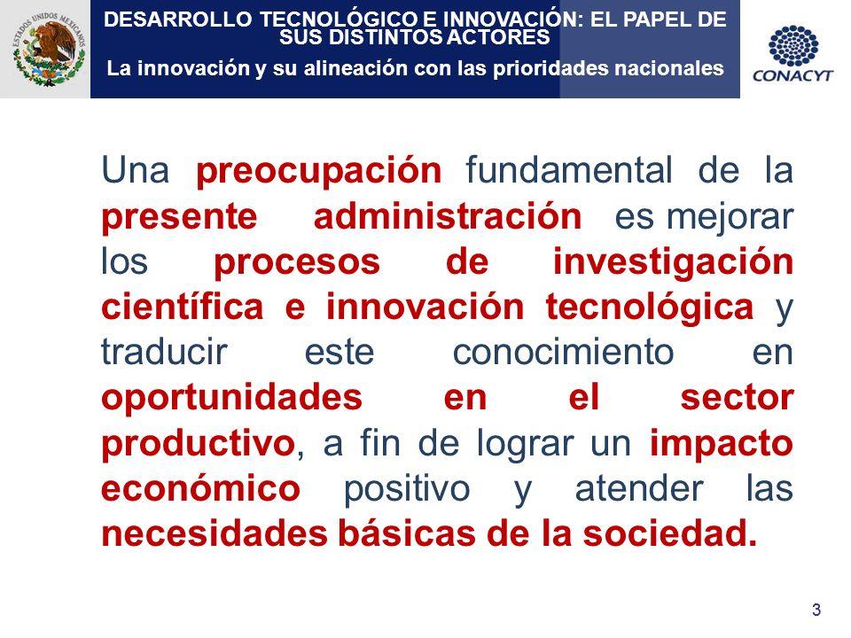 14 Ciencia y Tecnología como detonador del desarrollo económico La ciencia, la tecnología y la innovación son elementos clave para alcanzar el desarrollo sustentable a nivel mundial.