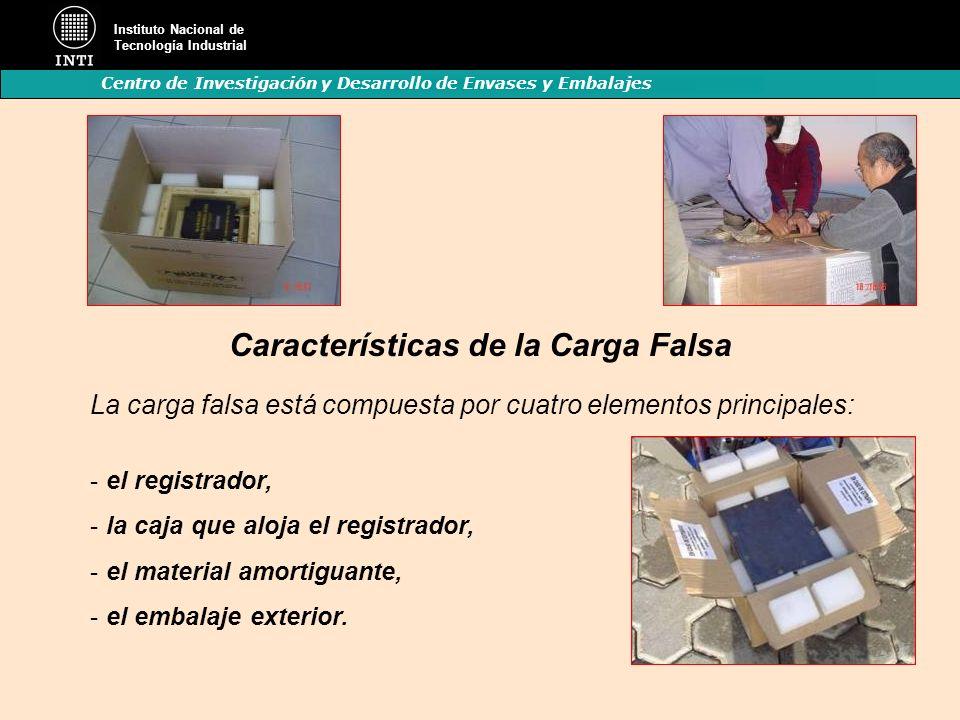 Instituto Nacional de Tecnología Industrial Centro de Investigación y Desarrollo de Envases y Embalajes Características de la Carga Falsa La carga fal