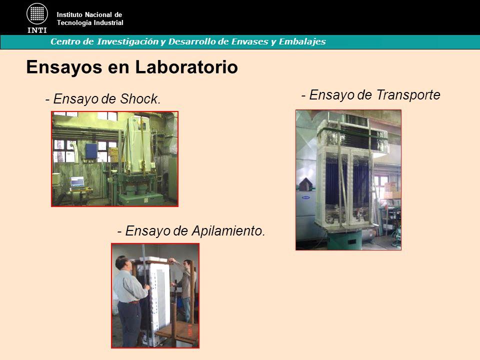 Instituto Nacional de Tecnología Industrial Centro de Investigación y Desarrollo de Envases y Embalajes - Ensayo de Transporte Ensayos en Laboratorio