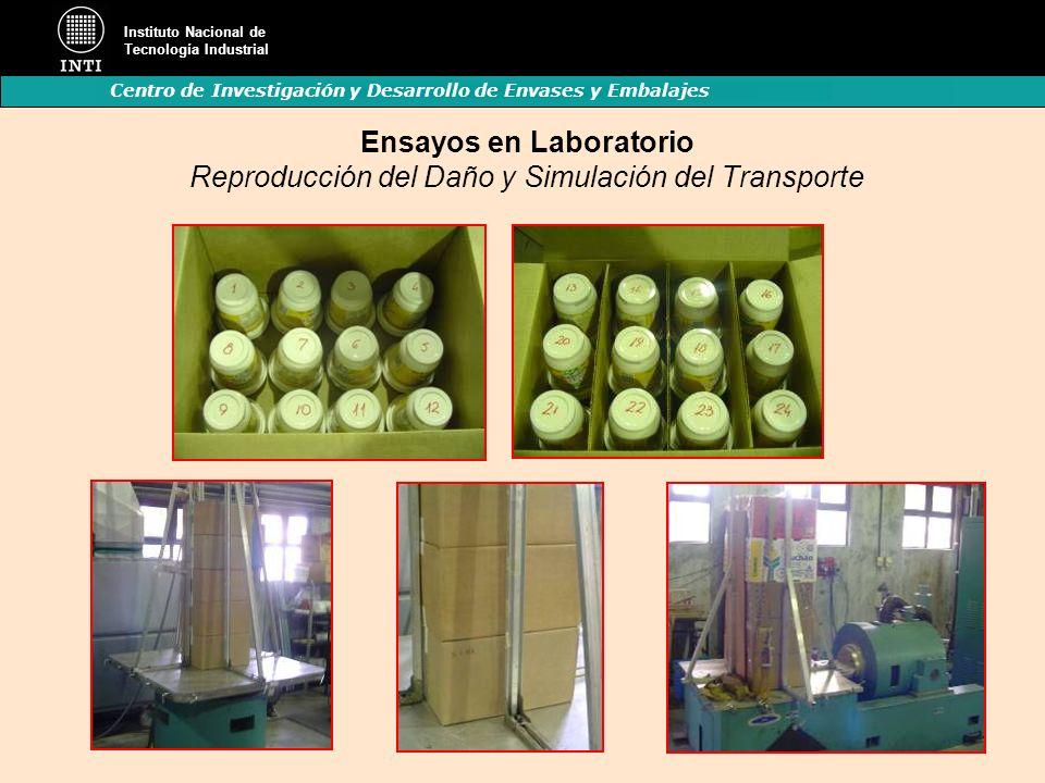 Instituto Nacional de Tecnología Industrial Centro de Investigación y Desarrollo de Envases y Embalajes Ensayos en Laboratorio Reproducción del Daño y