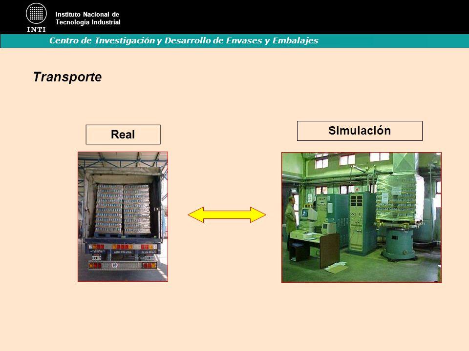 Instituto Nacional de Tecnología Industrial Centro de Investigación y Desarrollo de Envases y Embalajes Simulación Real Transporte