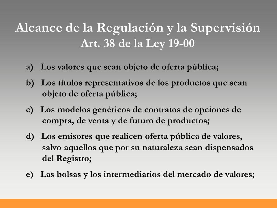Alcance de la Regulación y la Supervisión Art.