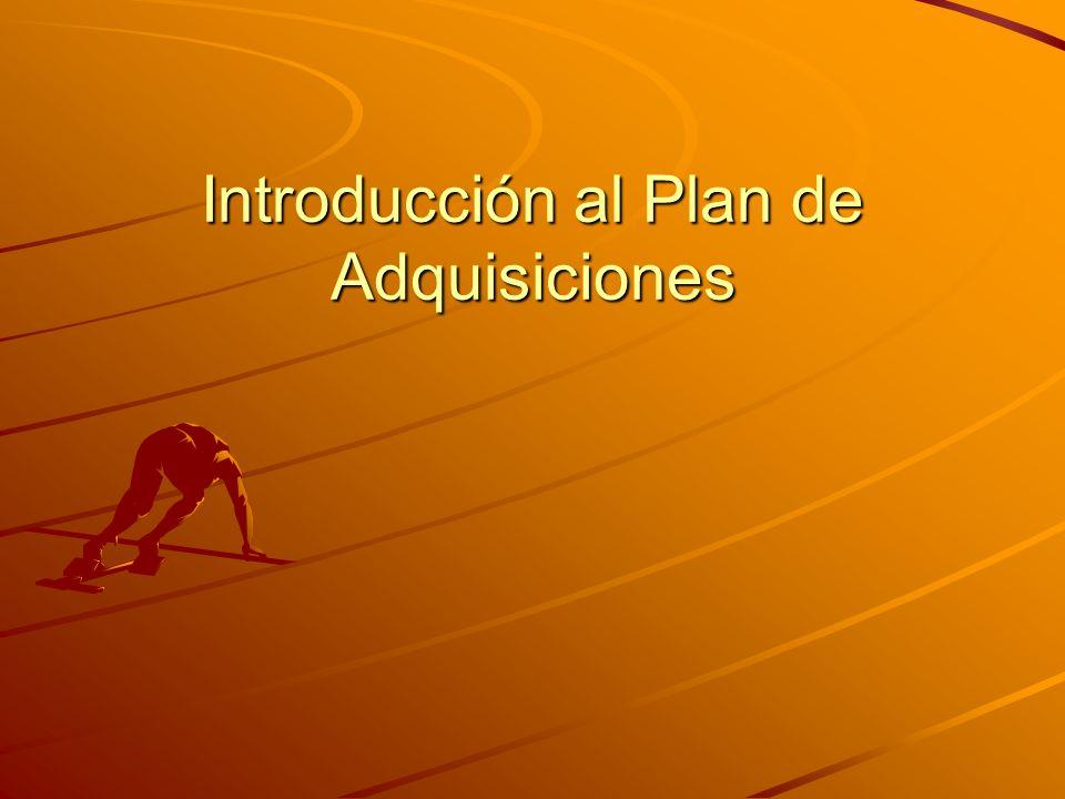 Introducción al Plan de Adquisiciones