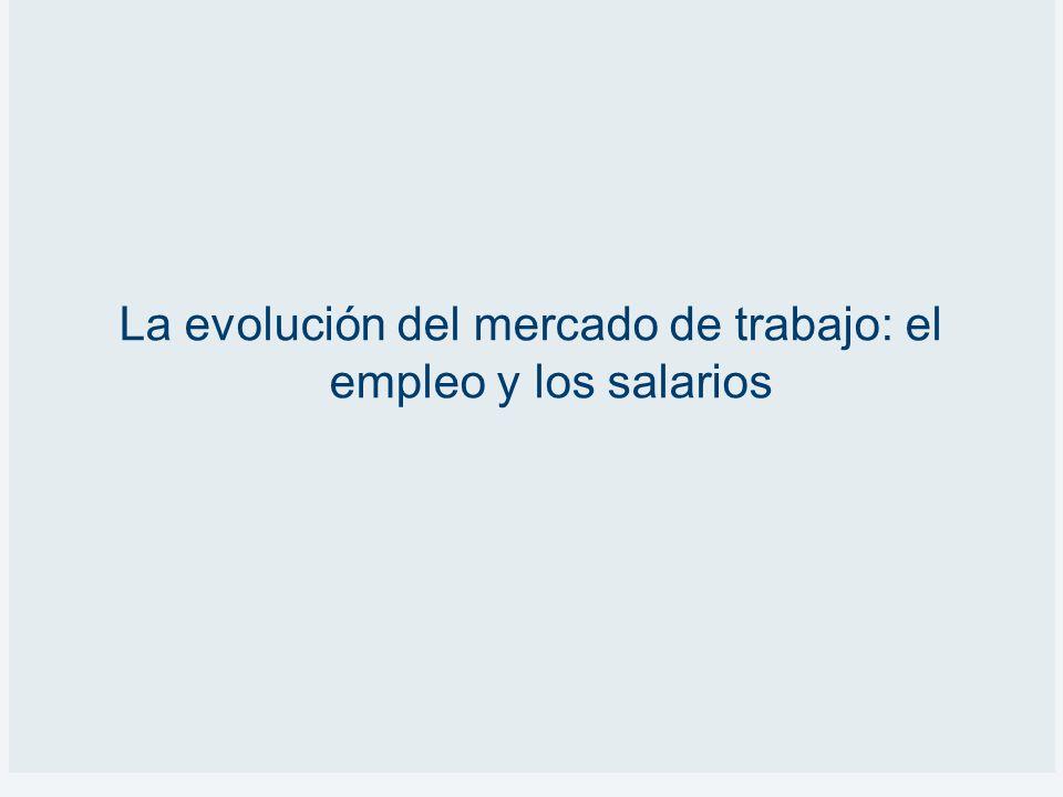 La evolución del mercado de trabajo: el empleo y los salarios