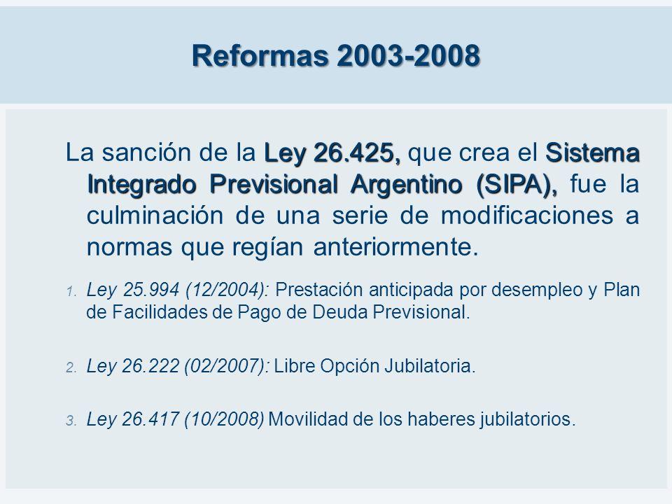 Reformas 2003-2008 Ley 26.425, Sistema Integrado Previsional Argentino (SIPA), La sanción de la Ley 26.425, que crea el Sistema Integrado Previsional