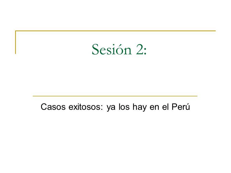 Sesión 2: Casos exitosos: ya los hay en el Perú