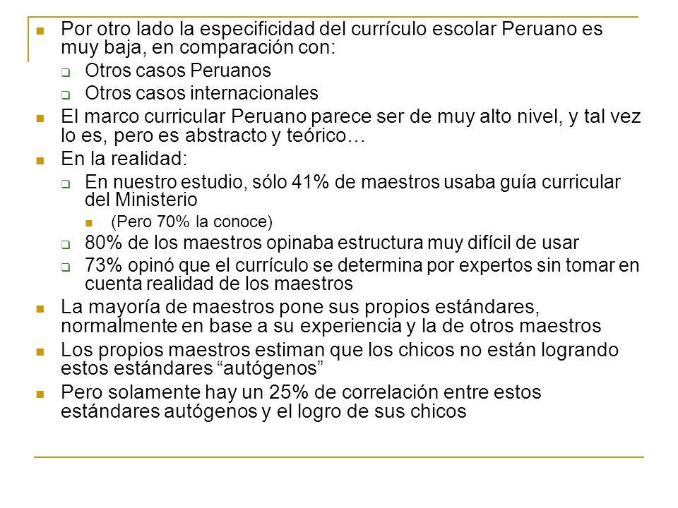 Pero sí hay casos exitosos dentro del mismo Perú No hay que irse a otros países Volvamos a la gráfica ya vista
