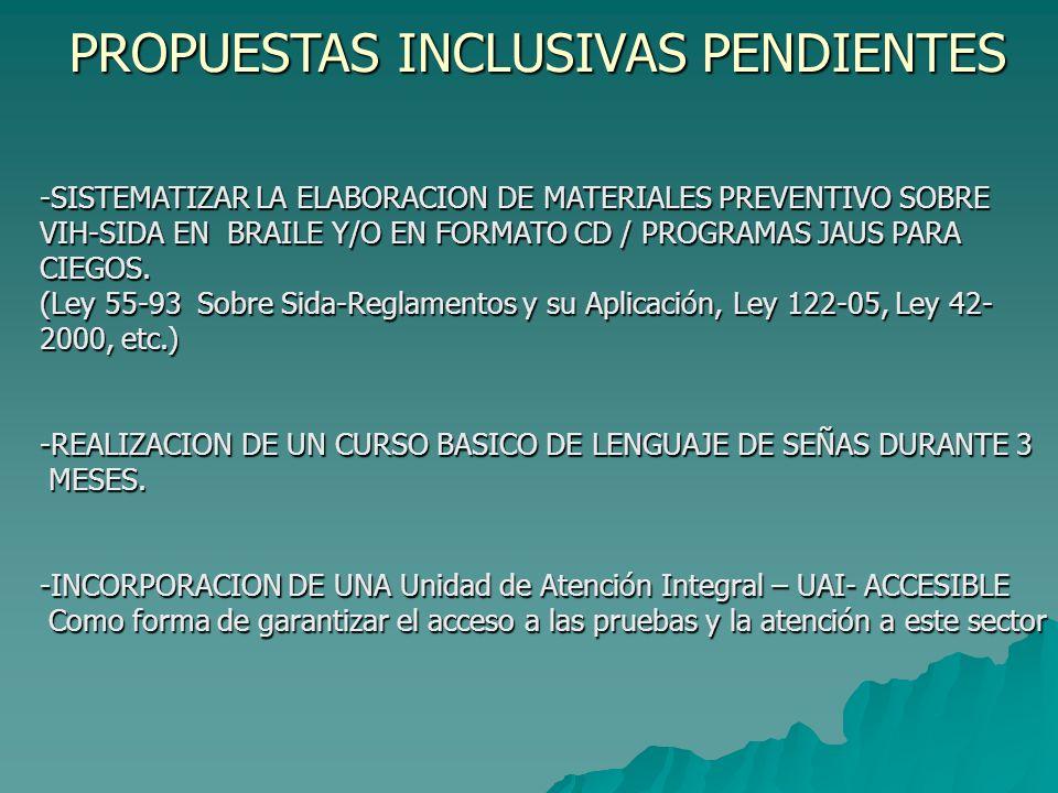 PROPUESTA DE ESTUDIO/LINEA DE BASE ACERCA DE LA POBLACION DE PcD Y EL VIH-SIDA EN LA R.D.