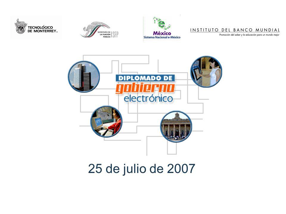 Objetivo del diplomado El participante diseñará en su área de trabajo una estrategia de gobierno electrónico adaptada a su entorno a partir del análisis de experiencias innovadoras, el acceso a información relevante y la opinión de expertos.