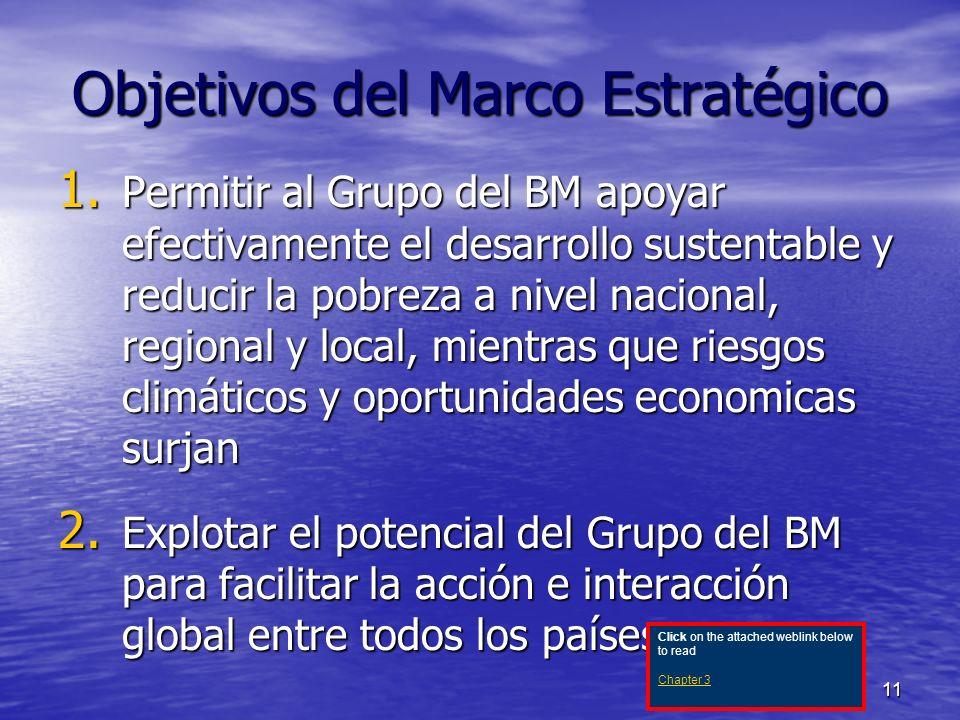 11 Objetivos del Marco Estratégico 1.