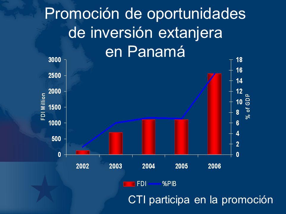 Promoción de oportunidades de inversión extanjera en Panamá CTI participa en la promoción