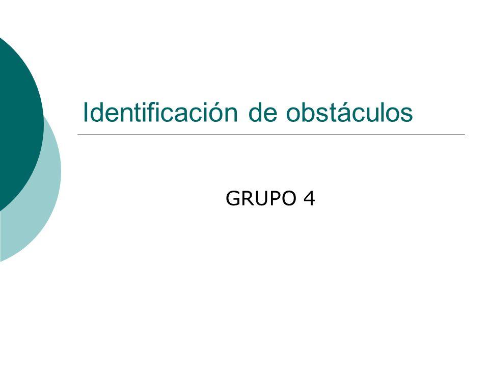 Identificación de obstáculos GRUPO 4