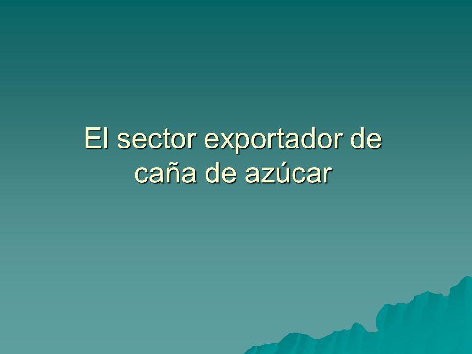 El sector exportador de caña de azúcar