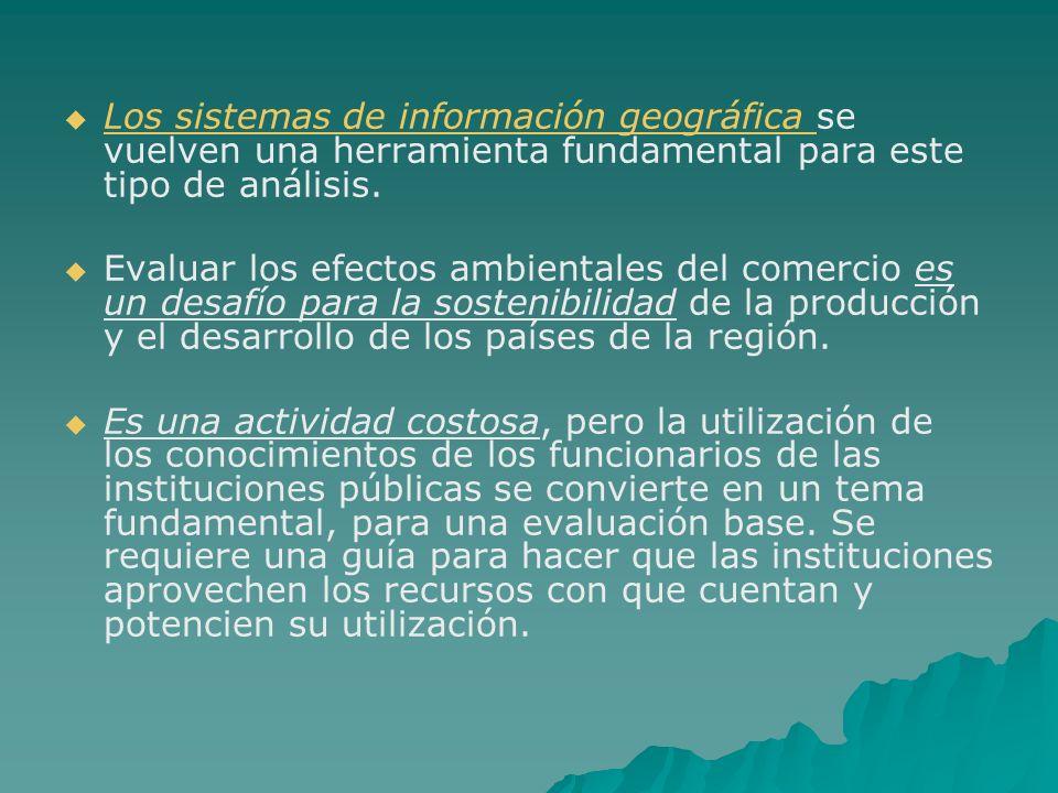 Los sistemas de información geográfica se vuelven una herramienta fundamental para este tipo de análisis. Los sistemas de información geográfica Evalu