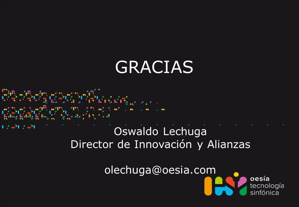 GRACIAS Oswaldo Lechuga Director de Innovación y Alianzas olechuga@oesia.com