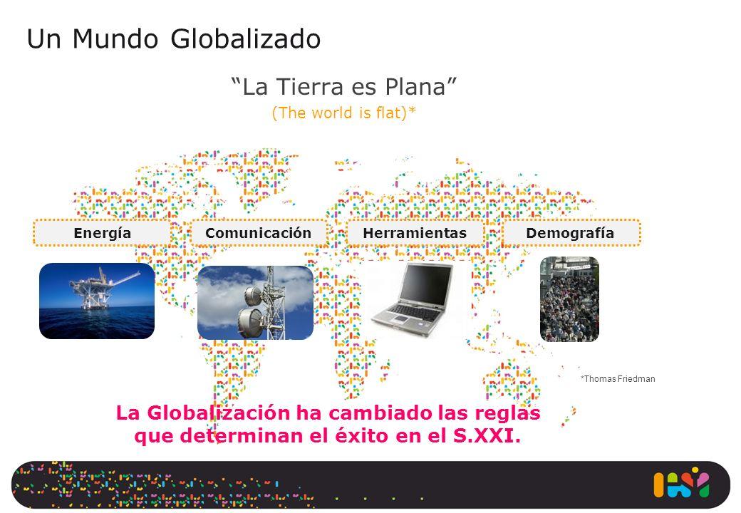 La Tierra es Plana (The world is flat)* Un Mundo Globalizado La Globalización ha cambiado las reglas que determinan el éxito en el S.XXI. EnergíaComun