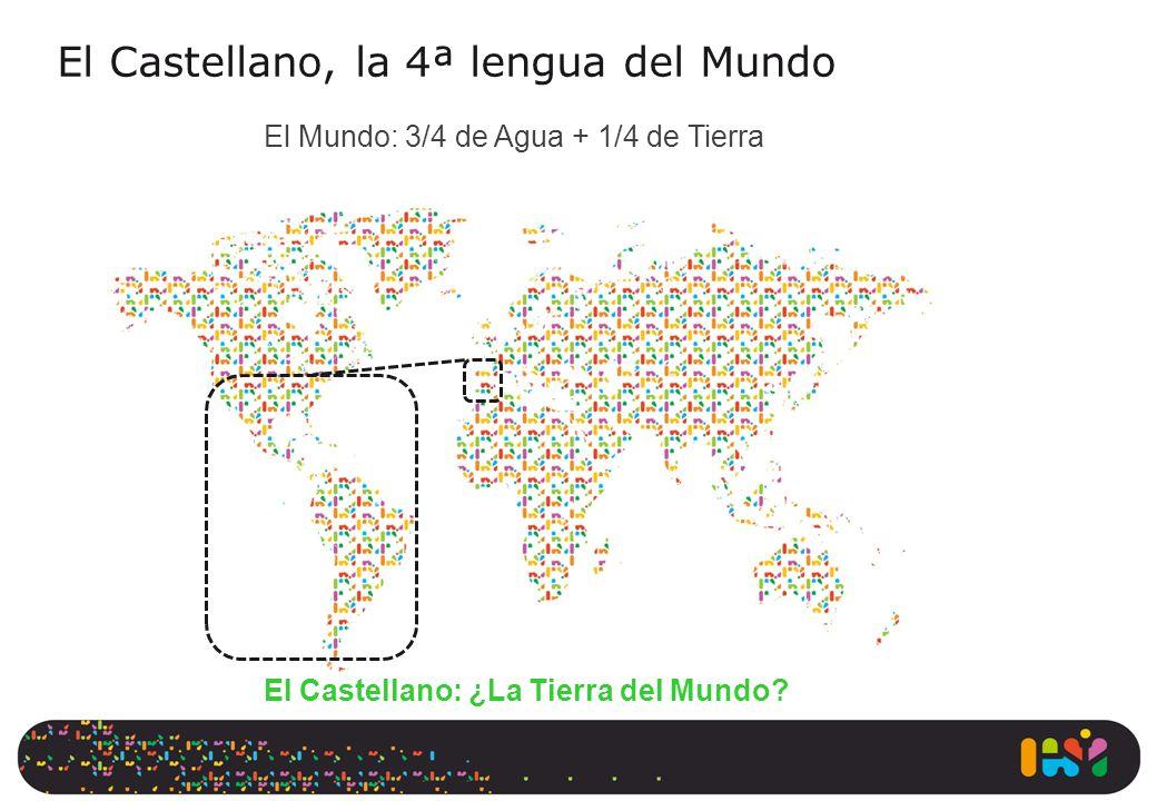 El Castellano, la 4ª lengua del Mundo El Mundo: 3/4 de Agua + 1/4 de Tierra El Castellano: ¿La Tierra del Mundo?