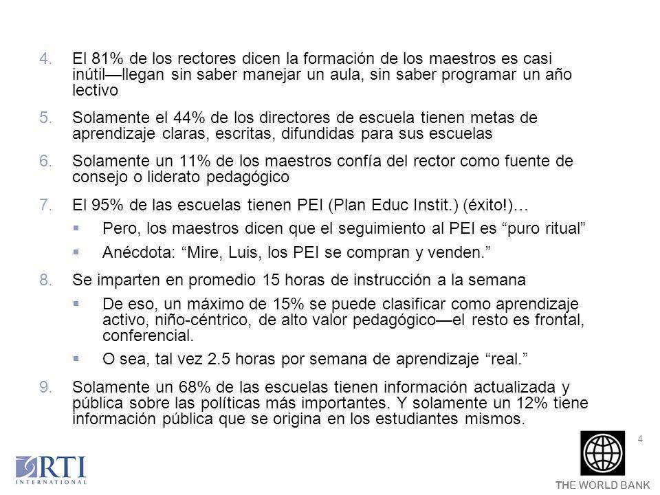 THE WORLD BANK 25 Esquema de la presentación Rendición de cuentas: 1.¿Por qué necesitamos herramientas prácticas.