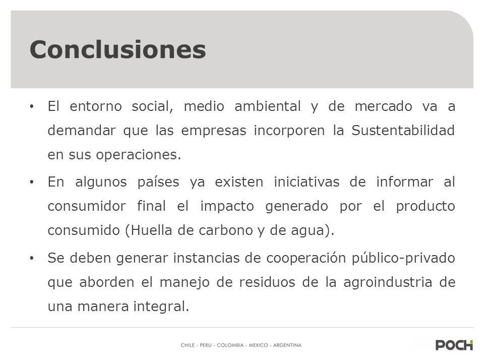 Conclusiones Hoy existen diversas metodologías para manejo y aprovechamiento energético de residuos agroindustriales. Para poder identificar cual es l