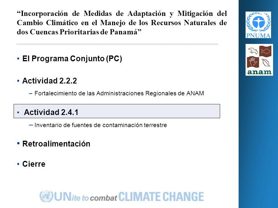 Actividades 2.Realizar un diagnóstico participativo, que incluya un análisis FODA en la temática del cambio climático, mitigación y adaptación.