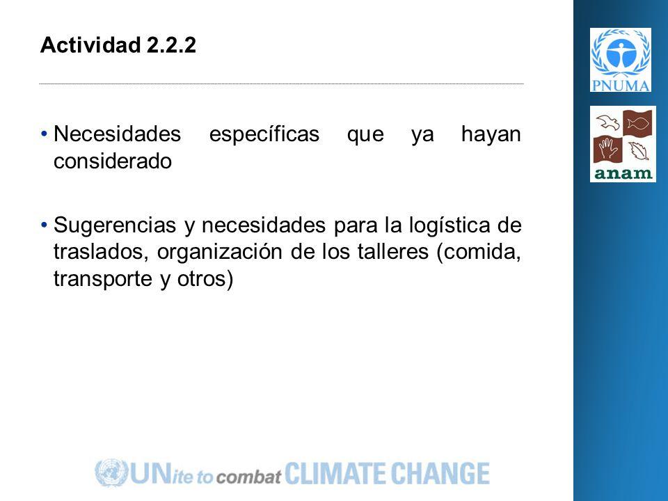 El Programa Conjunto (PC) Actividad 2.2.2 –Fortalecimiento de las Administraciones Regionales de ANAM Actividad 2.4.1 – Inventario de fuentes de contaminación terrestre Retroalimentación Cierre Incorporación de Medidas de Adaptación y Mitigación del Cambio Climático en el Manejo de los Recursos Naturales de dos Cuencas Prioritarias de Panamá