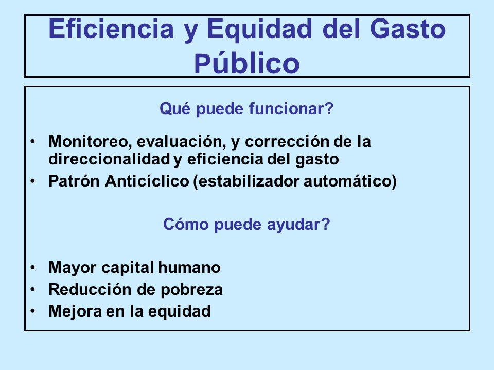 Eficiencia y Equidad del Gasto P úblico Qué puede funcionar.