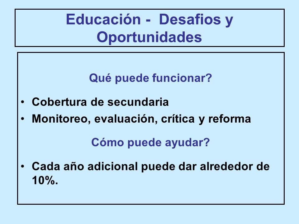 Educación - Desafios y Oportunidades Qué puede funcionar.