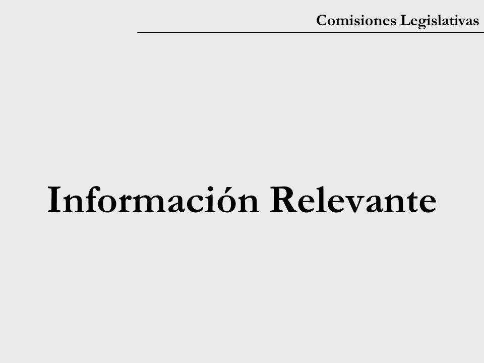 Comisiones Legislativas Información Relevante