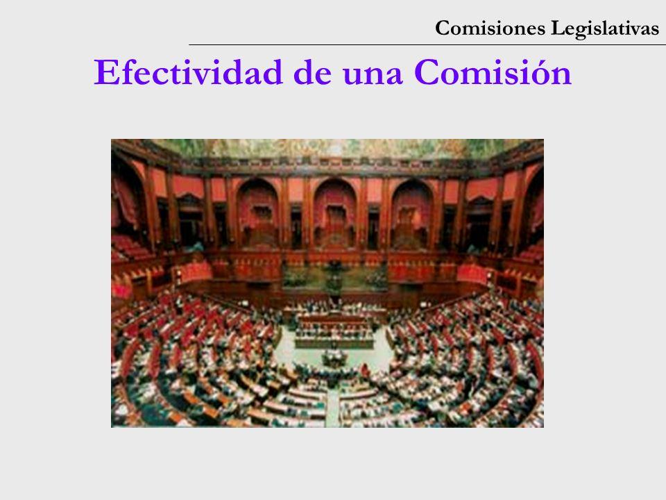 Comisiones Legislativas Efectividad de una Comisión