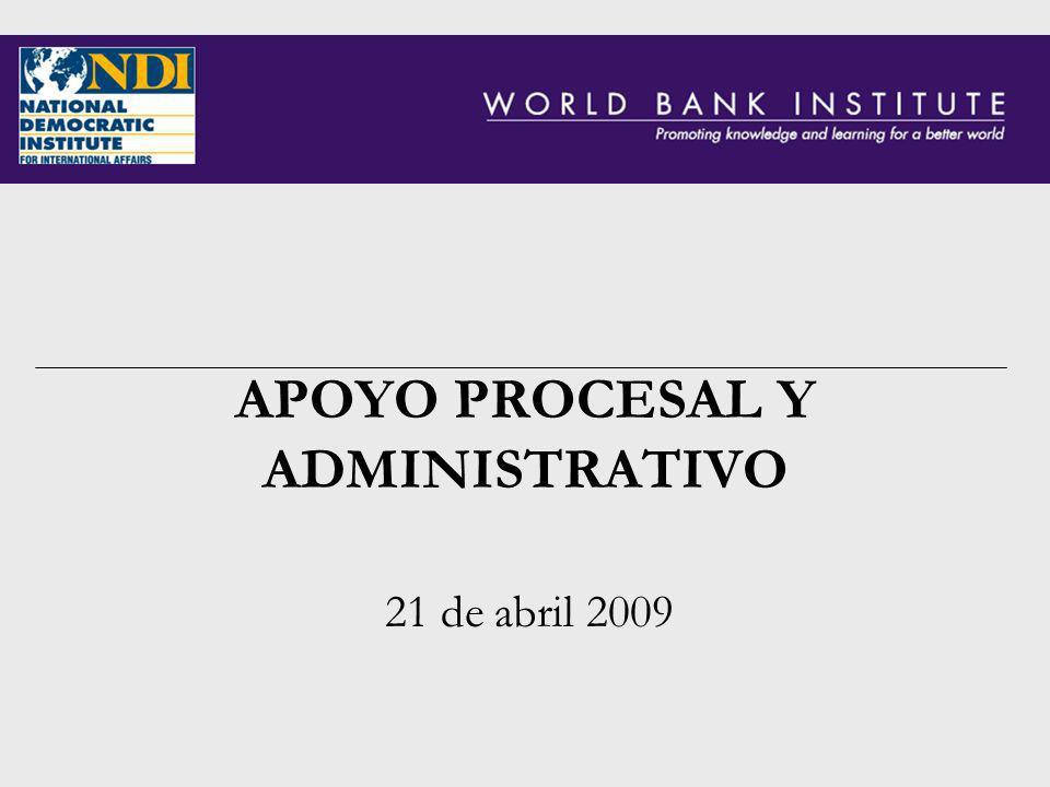 APOYO PROCESAL Y ADMINISTRATIVO 21 de abril 2009